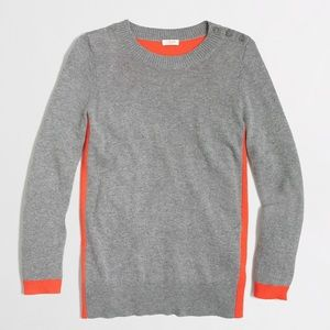 J. Crew Colorblock Elbow Patch Wool Sweater